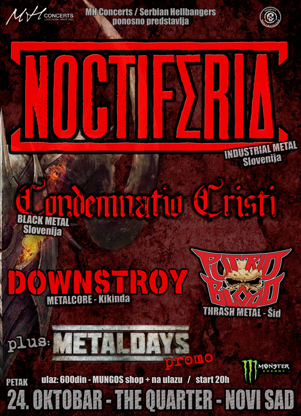NOCTIFERIA + gosti - 24.10. The Quarter, Novi Sad-web