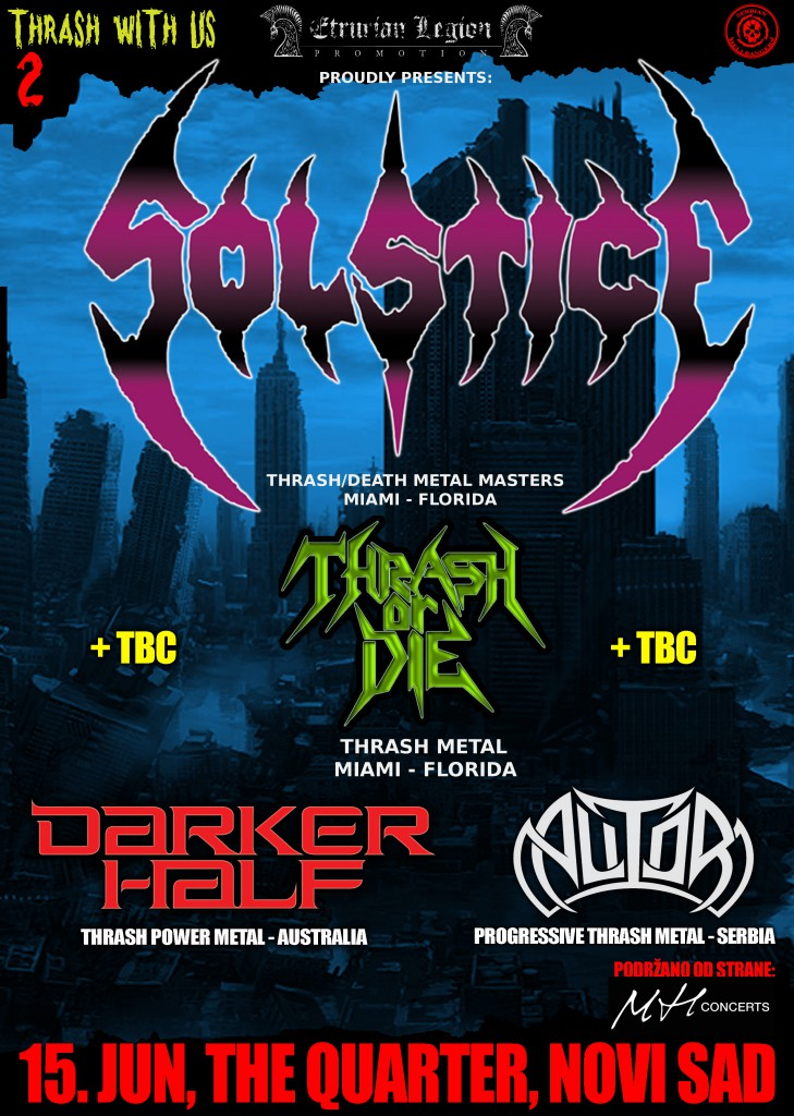 THRASH WITH US fest 2 - The Quarter, Novi Sad - 15.06.2016