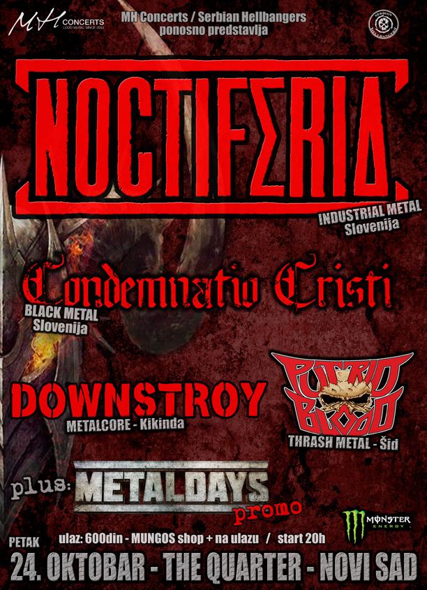 NOCTIFERIA + gosti - 24.10. The Quarter, Novi Sad-web